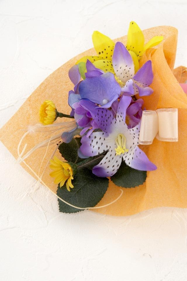 【造花ミニ花束】手のひらブーケI