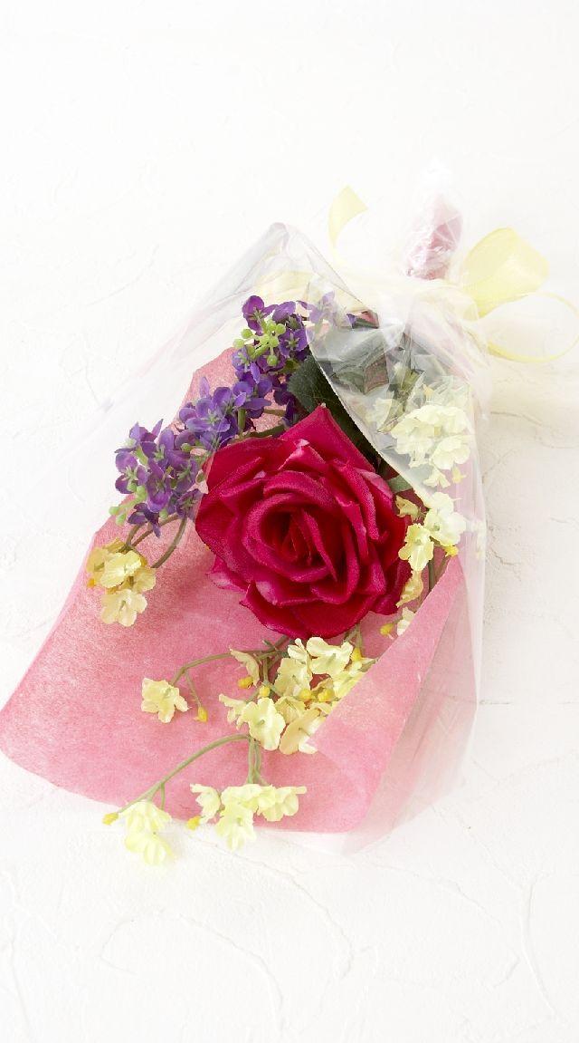 【造花・アーティフィシャルフラワー花束】light bouquet -M