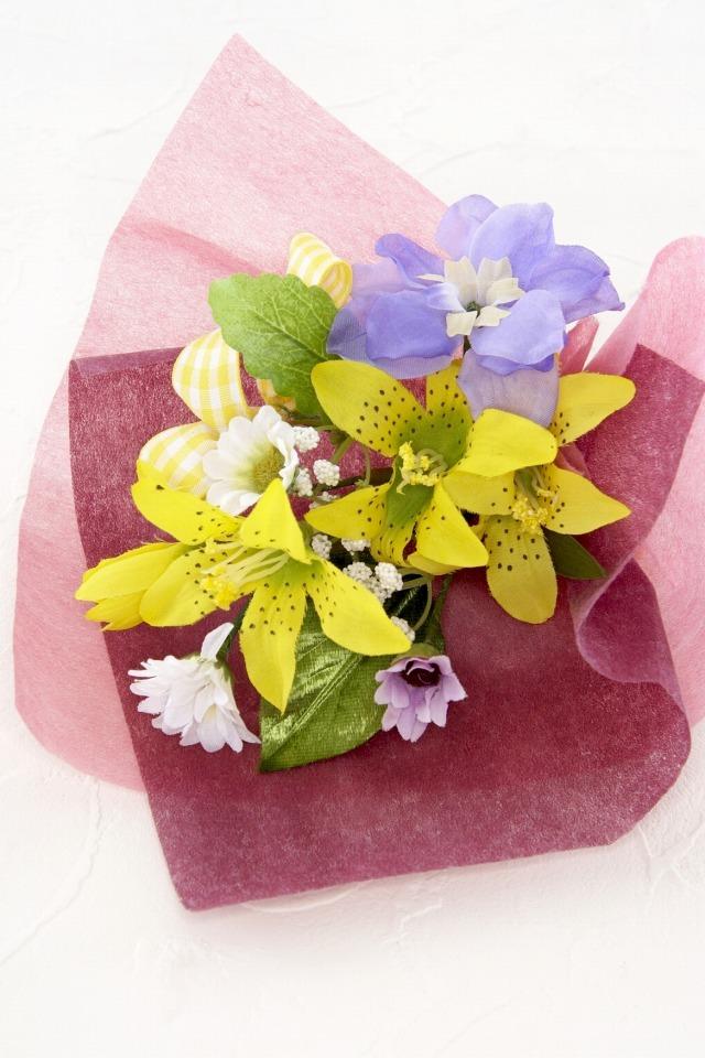 【造花ミニ花束】手のひらブーケ32