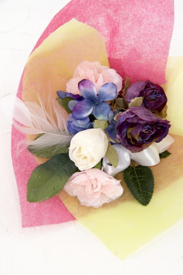 【造花ミニ花束】手のひらブーケ31