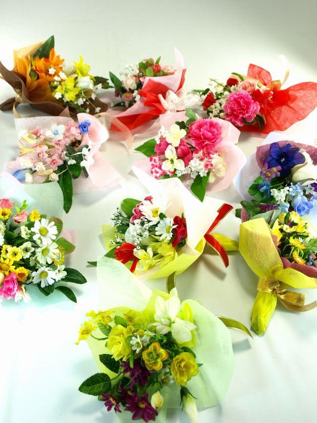 【造花ミニ花束】手のひらブーケ22