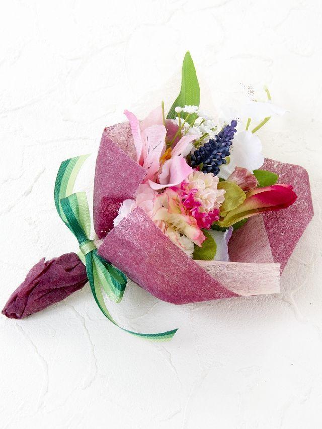 【造花ミニ花束】手のひらブーケ6