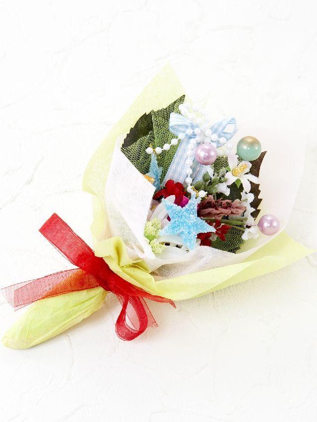 【造花ミニ花束】手のひらブーケ10