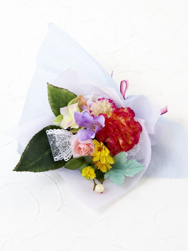 【造花ミニ花束】手のひらブーケ14