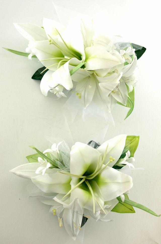 カサブランカのヘッドドレスキット(ホワイト)(2点セット)