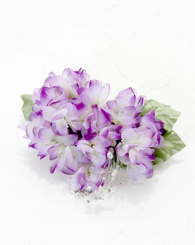 【特価SALE 髪飾り・ヘアアクセサリー】紫陽花-パープル・バレッタ