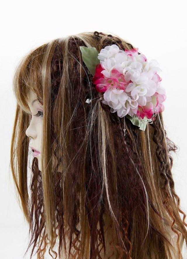 【特価SALE 髪飾り・ヘアアクセサリー】紫陽花-ツートンピンク・バレッタ
