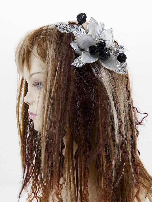 【特価SALE 髪飾り・ヘアアクセサリー】和洋両用-シルバーブラック・コーム