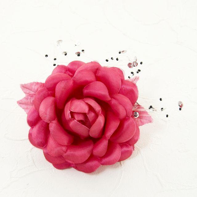 【特別価格SALE 髪飾り・ヘアアクセサリー】ローズ髪飾り(ロゼワイン)/コームタイプ