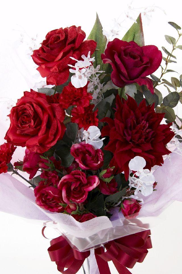 【贈答・贈呈用・ギフトの造花花束】レッドベルサイユ・ブーケ