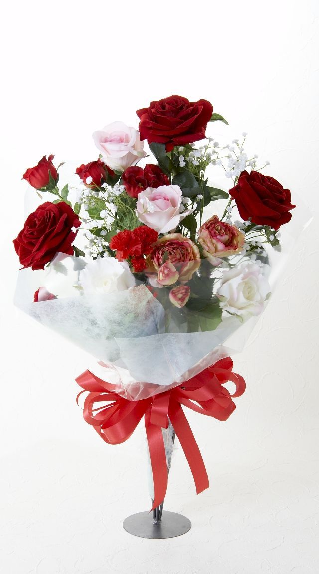 【贈答・贈呈用・ギフトの造花花束】シンデレラレッド・ブーケ