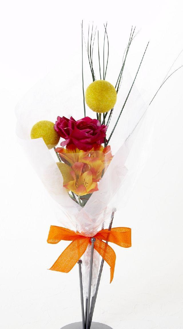 【造花・アーティフィシャルフラワー花束】light bouquet -E