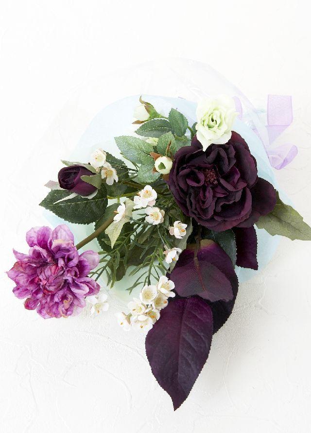 【造花・アーティフィシャルフラワー花束】light bouquet -U