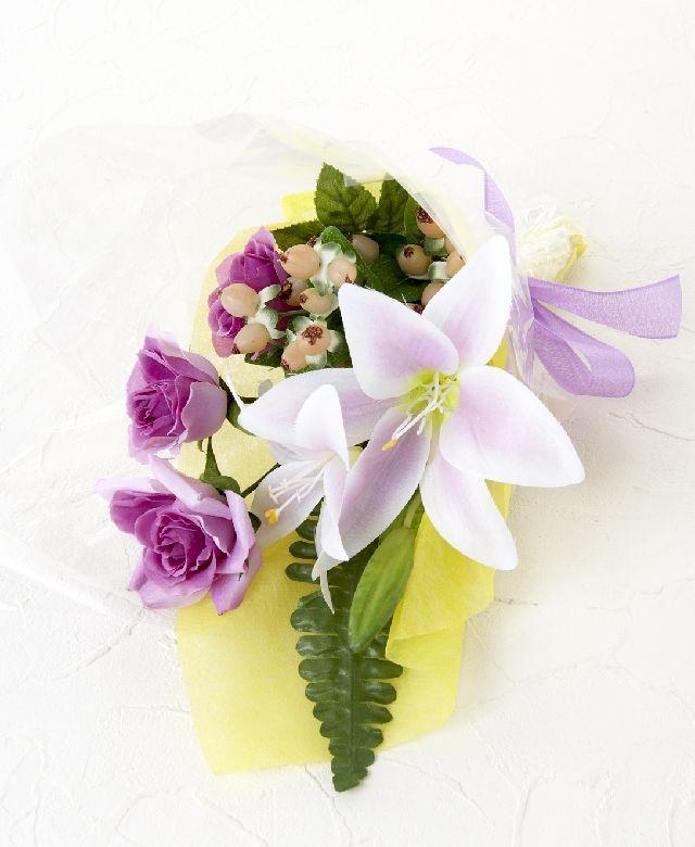 【造花・アーティフィシャルフラワー花束】light bouquet -2