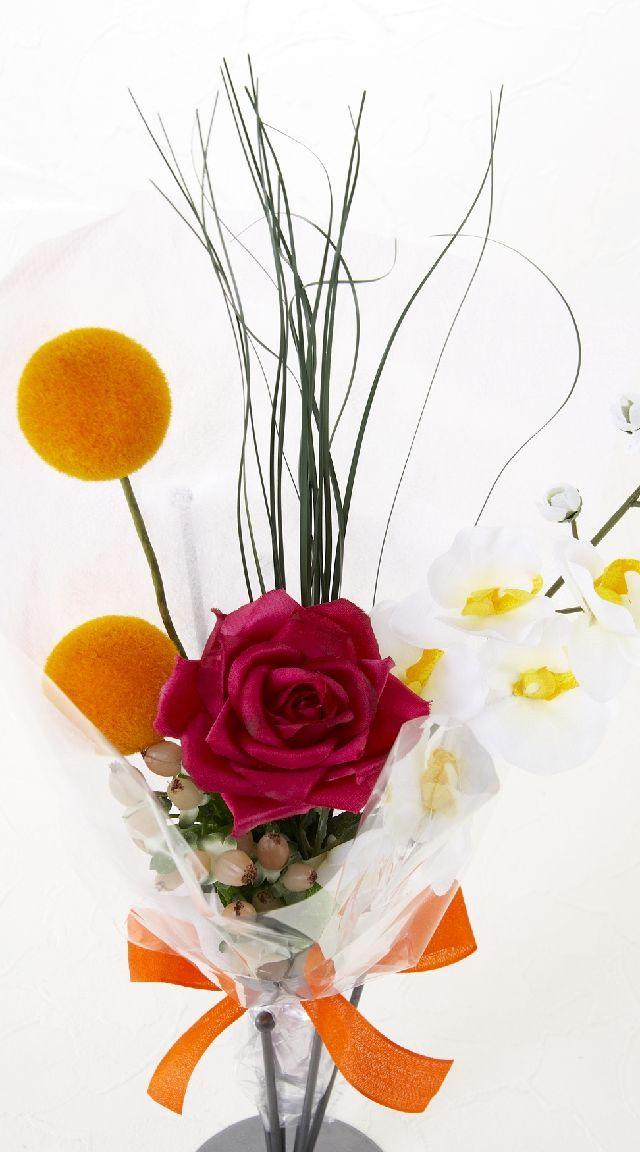 【造花・アーティフィシャルフラワー花束】light bouquet -W
