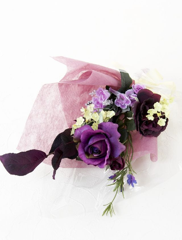 【造花・アーティフィシャルフラワー花束】light bouquet -X