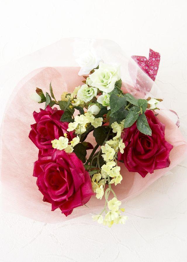 【造花・アーティフィシャルフラワー花束】light bouquet -Y