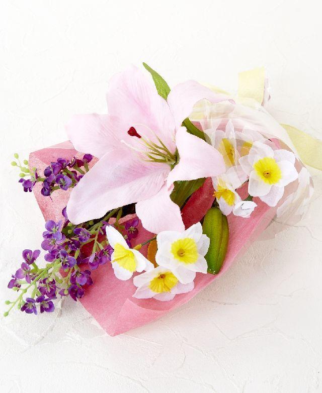 【造花・アーティフィシャルフラワー花束】light bouquet -3