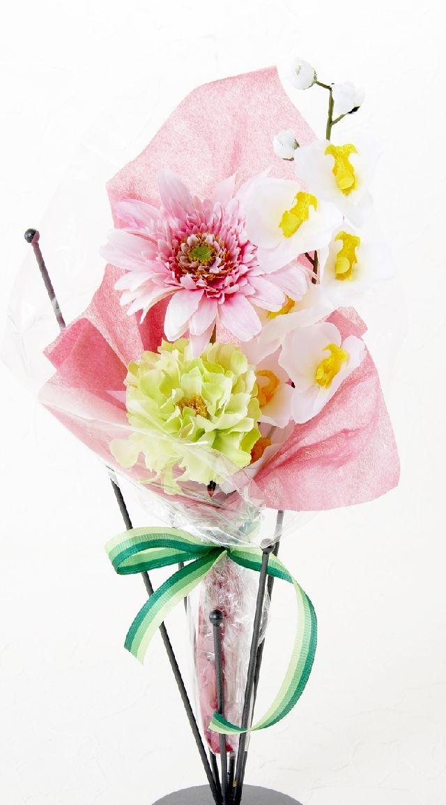 【造花・アーティフィシャルフラワー花束】light bouquet -4