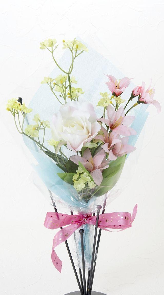 【造花・アーティフィシャルフラワー花束】light bouquet -10