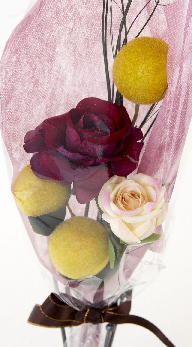 【造花・アーティフィシャルフラワー花束】light bouquet -11