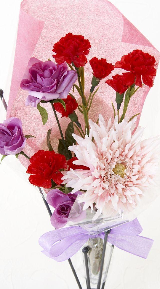 【造花・アーティフィシャルフラワー花束】light bouquet -16