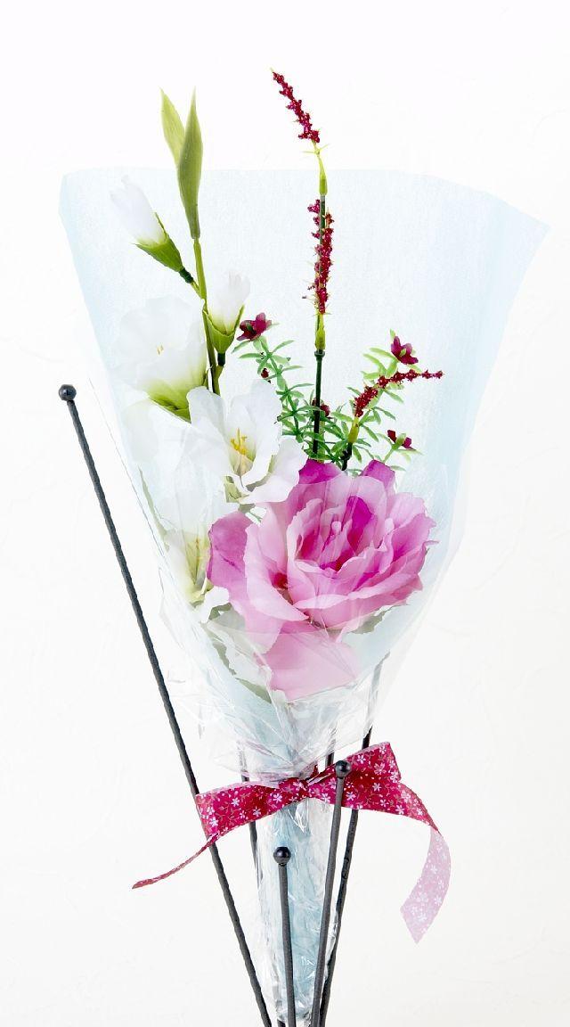 【造花・アーティフィシャルフラワー花束】light bouquet -18