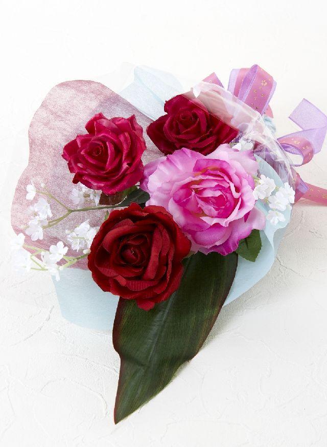 【造花・アーティフィシャルフラワー花束】light bouquet -19