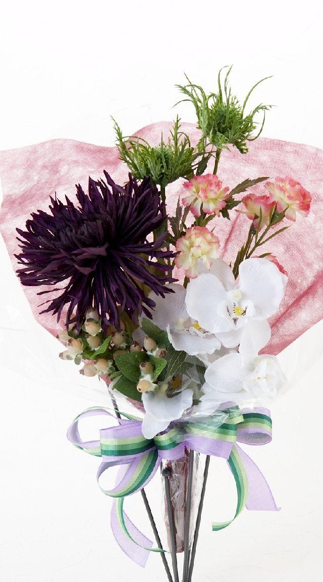 【造花・アーティフィシャルフラワー花束】light bouquet -21