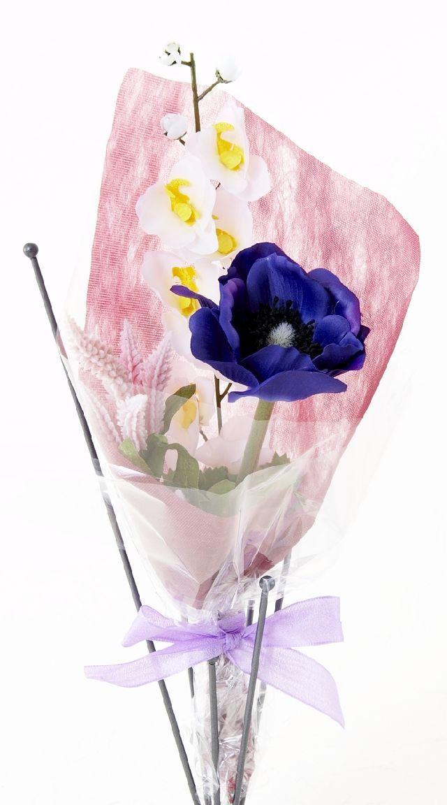 【造花・アーティフィシャルフラワー花束】light bouquet -25
