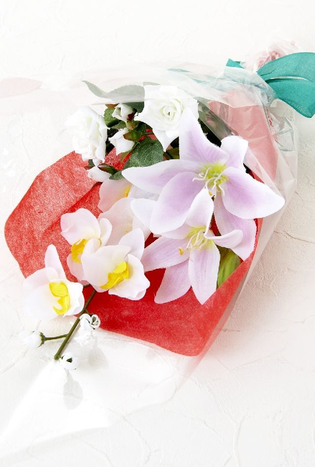 【造花・アーティフィシャルフラワー花束】light bouquet -26