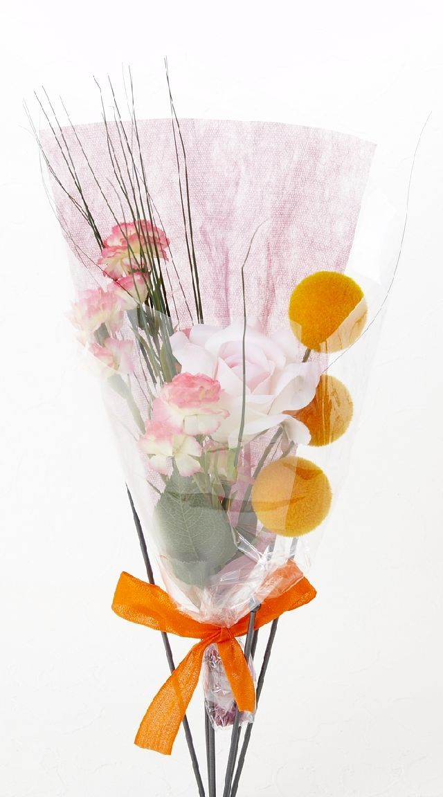 【造花・アーティフィシャルフラワー花束】light bouquet -R