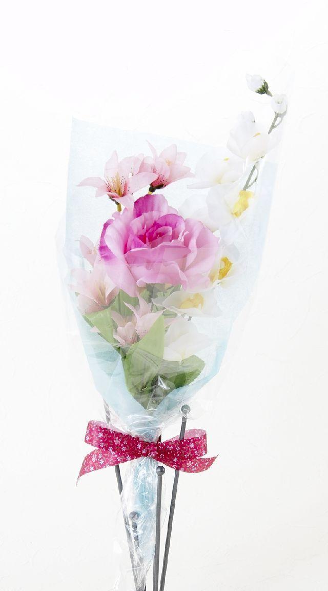 【造花・アーティフィシャルフラワー花束】light bouquet -S