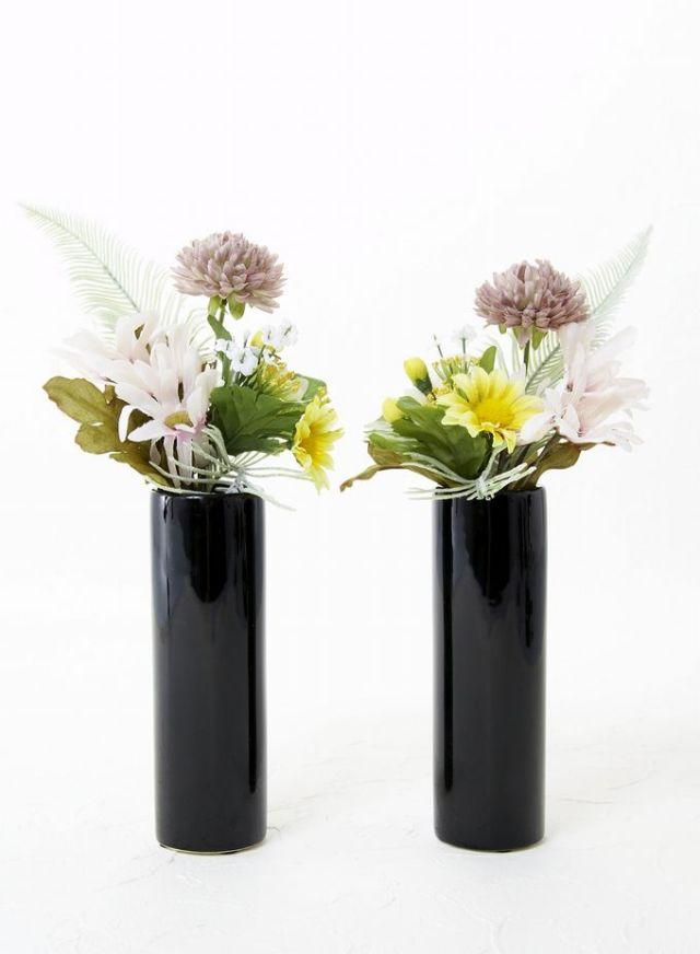 【造花 供花】マム&デージーのミニ仏花セット(左右1対)
