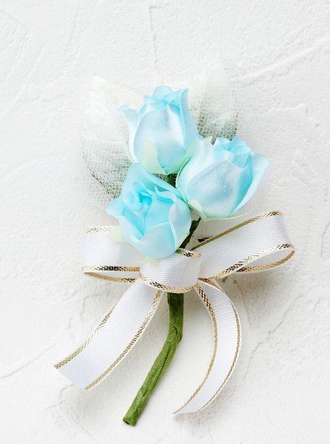 ミニバラのミニコサージュ(ブルー)
