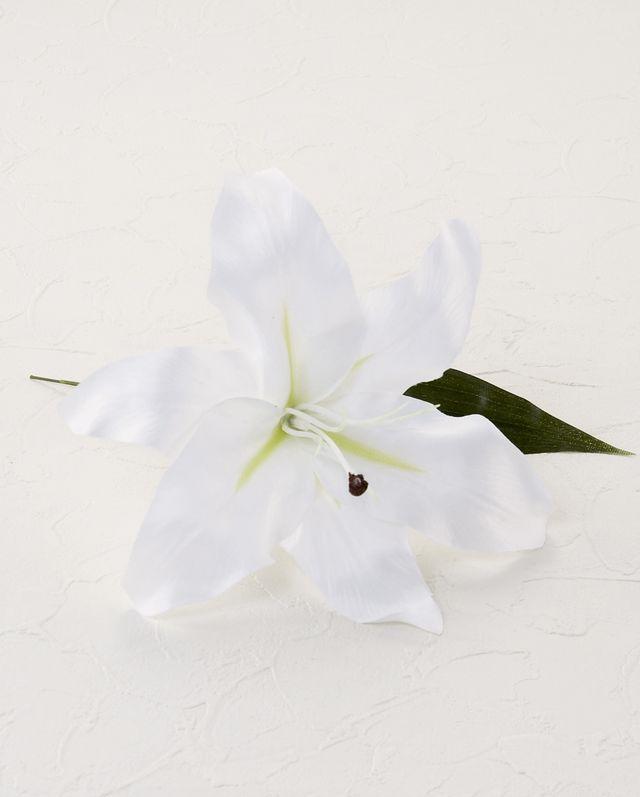 【造花・アートフラワー・シルクフラワー】カサブランカリリーピック/ホワイト