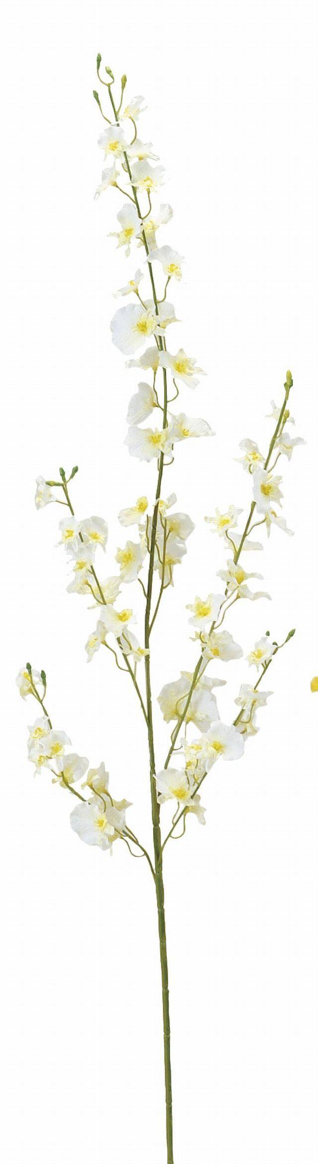 【造花 アートフラワー】オンシジュームロング(ホワイト)