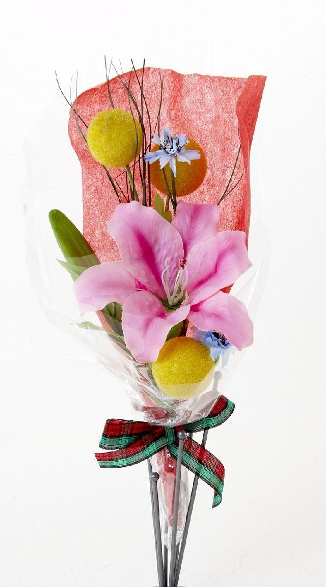 【造花・アーティフィシャルフラワー花束】light bouquet -T