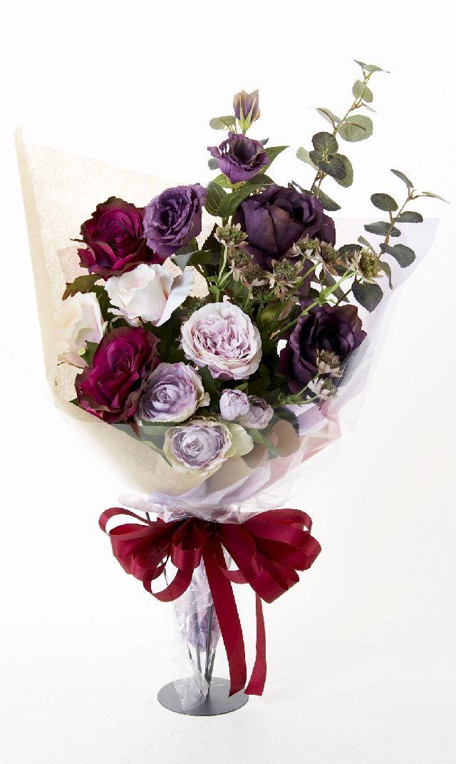 【贈答・贈呈用・ギフトの造花花束】ジュエルアメジスト・ブーケ