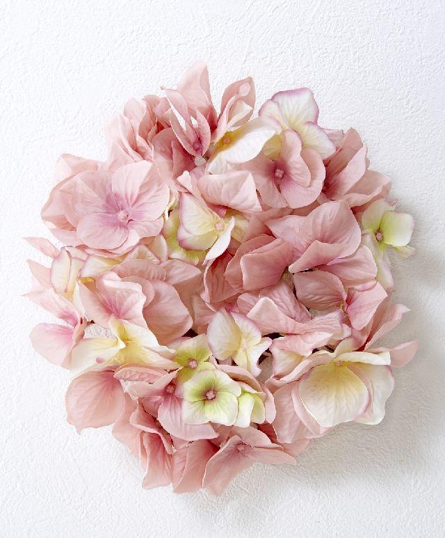 【造花・アーティフィシャルフラワーリース】ハイドレンジアリース /ピンク系