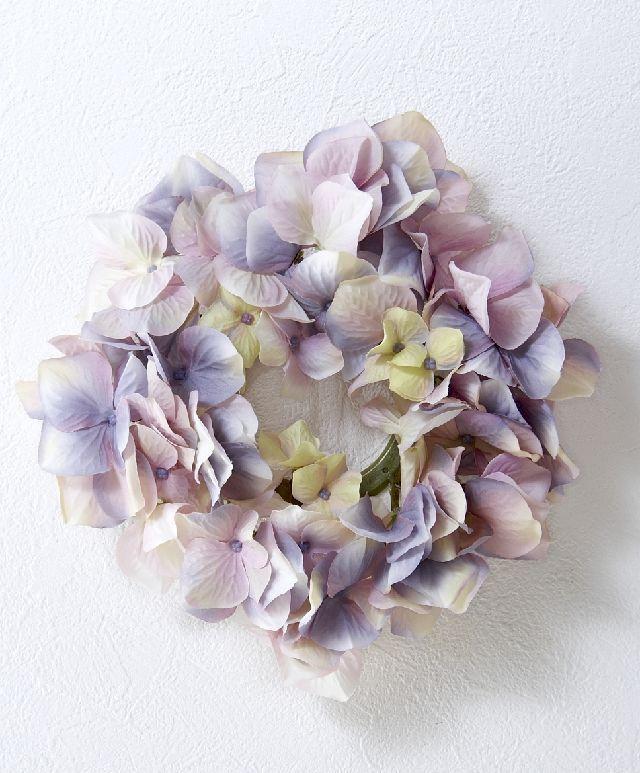 【造花・アーティフィシャルフラワーリース】ハイドレンジアリース /パープル系