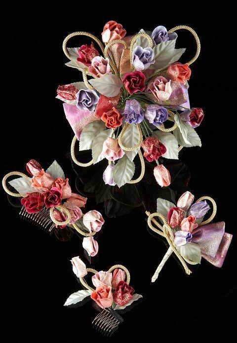 ウェディング<>和装ブーケ&和装髪飾りセット(花舞)