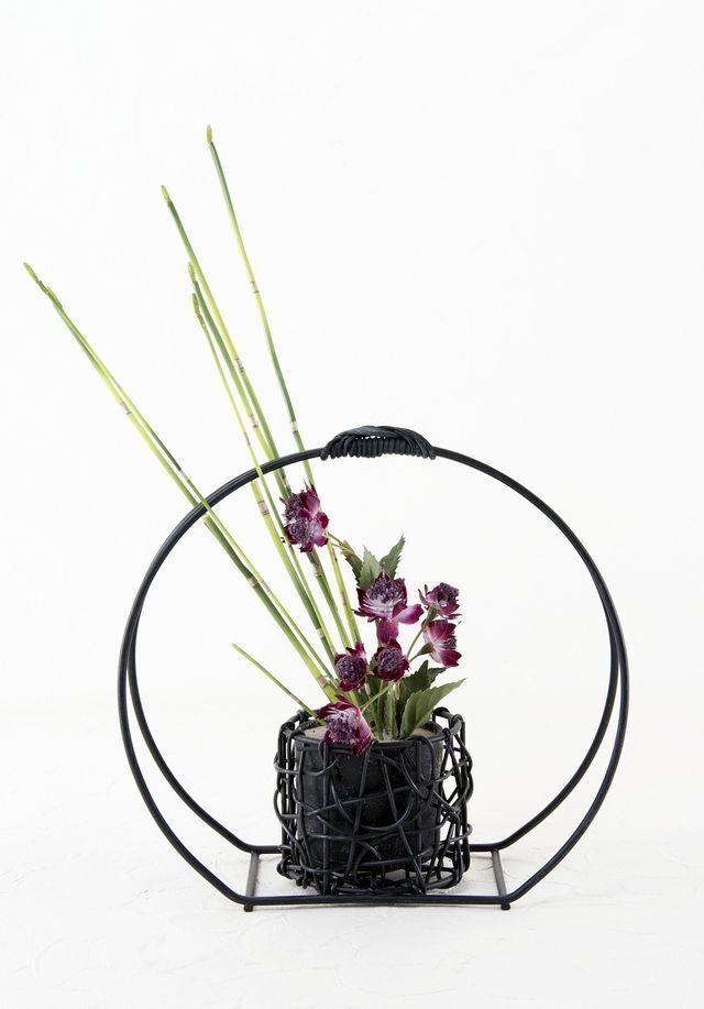 【造花・和モダン・和風アレンジメント】紫苑-shion