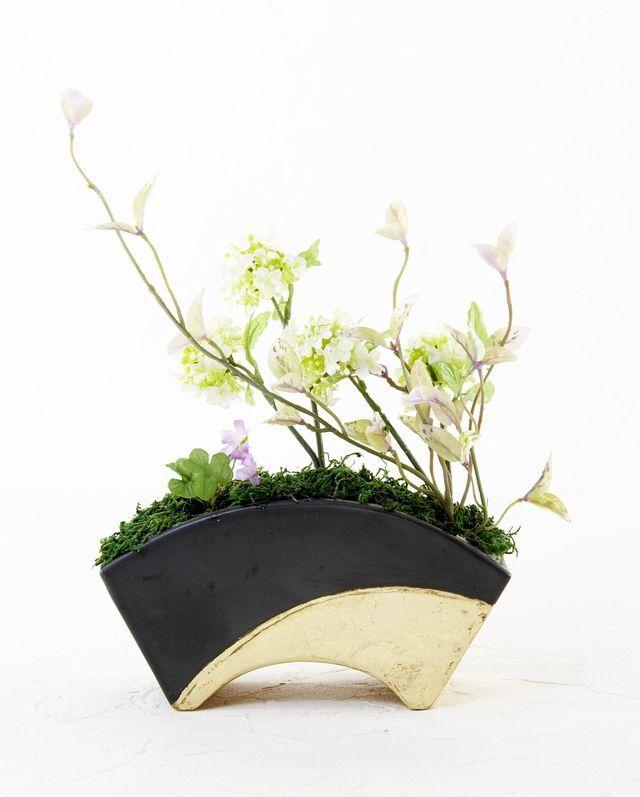 【造花・和モダン・和風アレンジメント】和華把-wakaba