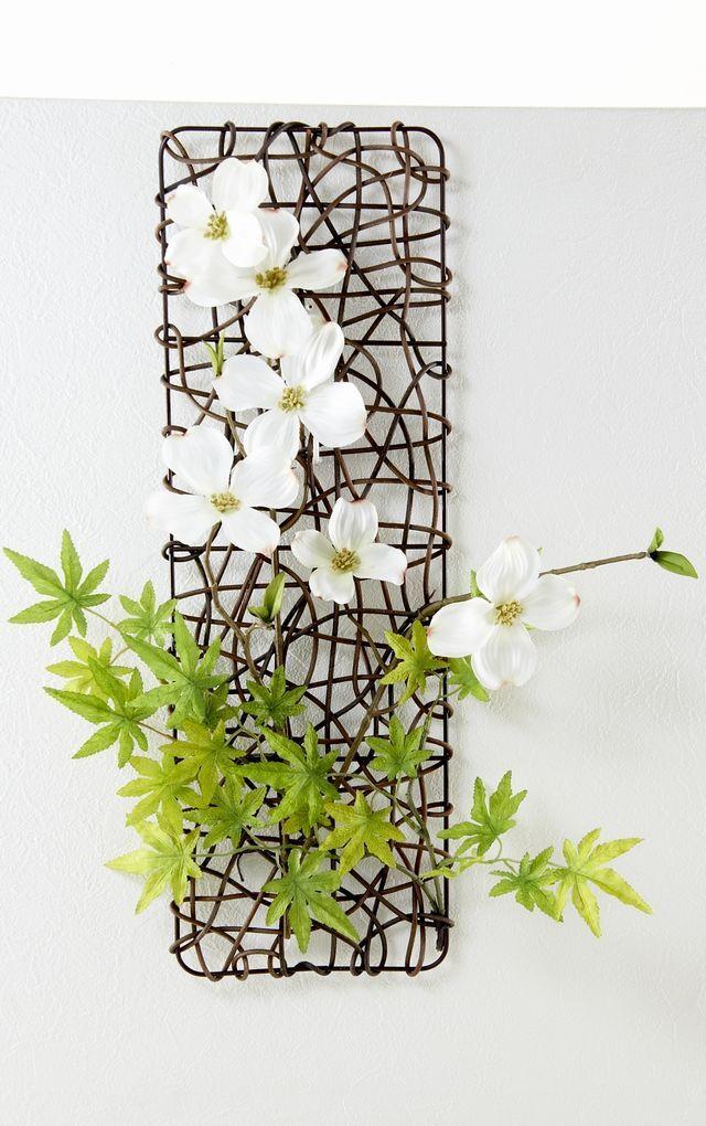 【壁掛け・造花 アーティフィシャルフラワー・ オリジナルハンギングアレンジ】和歌-わか-