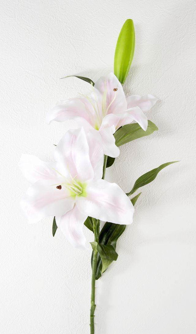 【造花・アートフラワー・シルクフラワー】ソフト・カサブランカ(ピンク)
