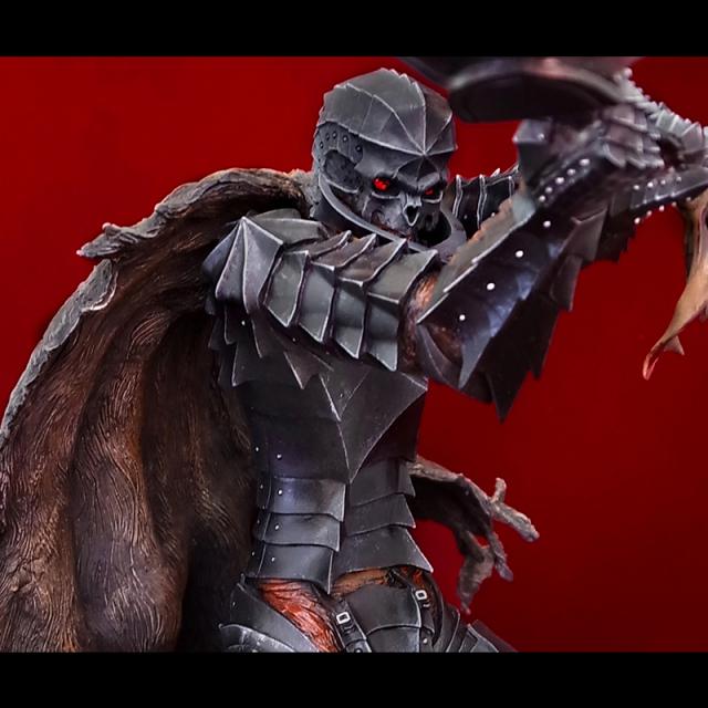 「狂戦士」 Armored Berserk Skull Helmet Version レッドクリスタル・アイ パーツ付き※締切