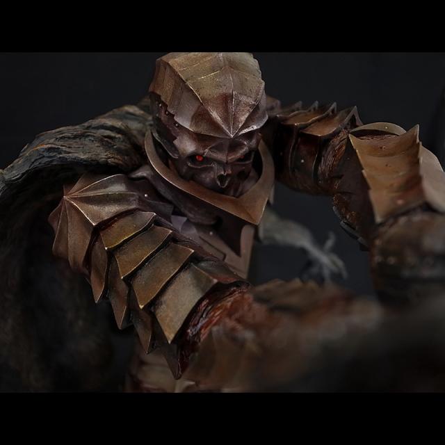 「狂戦士」Armored Berserk Skull Helmet Version 鉄さび版【限定10体】【クリスタル・レッドアイ】※完売