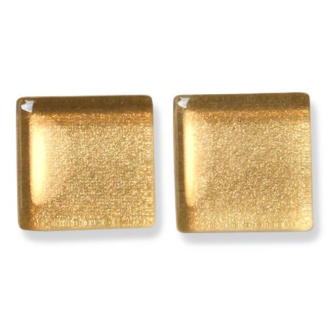 ガラスモザイク10 ゴールド Gold(金) 【クラフト用10mm角ガラスモザイクタイル】