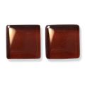 ガラスモザイク10 チェスナット・ブラウン Chestnut Brown(茶系) 【クラフト用10mm角ガラスモザイクタイル】